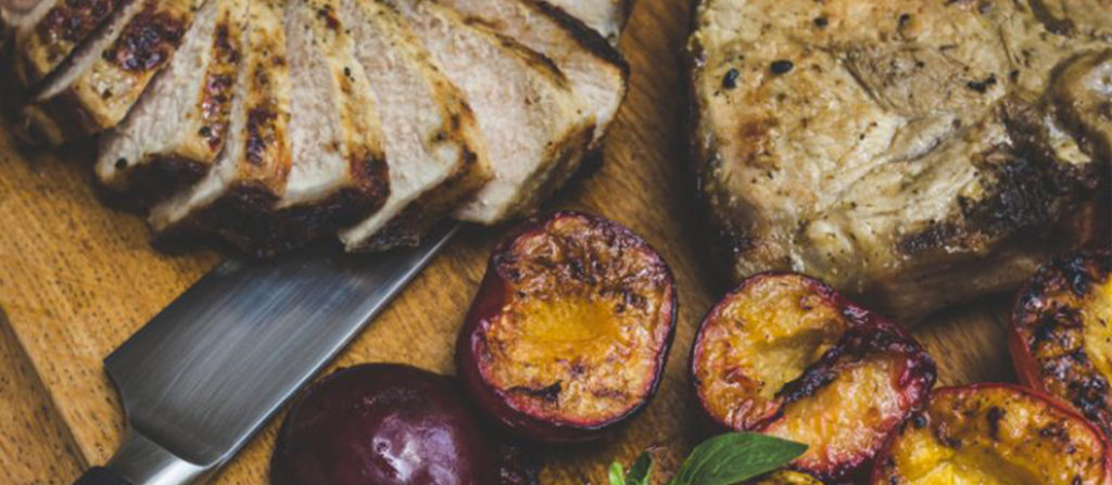 Ina Paarman;s Pork chop and plums